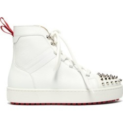 Christian Louboutin - Baskets montantes en cuir à picots Smartic found on Bargain Bro India from matchesfashion.com fr for $1293.50