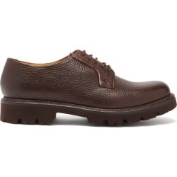 Grenson - Melvin Grained-leather Derby Shoes - Mens - Dark Brown found on MODAPINS from Matches Global for USD $319.00
