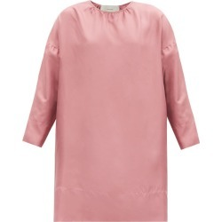Asceno - Quinta Cropped-sleeve Silk-twill Dress - Womens - Dusty Pink found on MODAPINS from Matches UK for USD $437.33