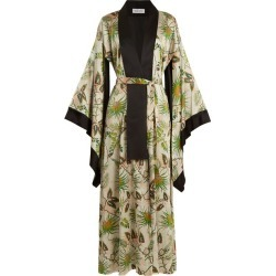 Adriana Iglesias - Kimono réversible en soie stretch Anna found on MODAPINS from matchesfashion.com fr for USD $1544.40