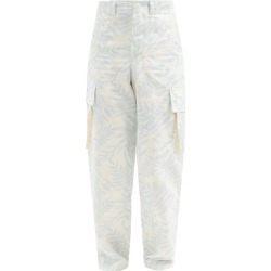 Jacquemus - Alzu Leaf-print Cotton Cargo Trousers - Mens - Blue found on Bargain Bro UK from Matches UK