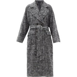 Dolce & Gabbana - Belted Prince Of Wales-check Wool-blend Coat - Womens - Grey found on Bargain Bro UK from Matches UK