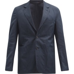 Caruso - Elba Single-breasted Cotton-blend Blazer - Mens - Navy found on MODAPINS from Matches UK for USD $940.59