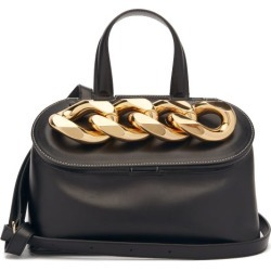 JW Anderson - Lid Curb-chain Leather Shoulder Bag - Womens - Black found on MODAPINS from MATCHESFASHION.COM - AU for USD $1657.75