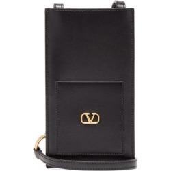 Valentino Garavani - V-logo Leather Crossbody Pouch - Mens - Black found on Bargain Bro from Matches UK for £232