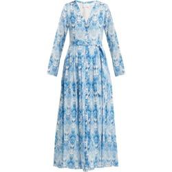 Athena Procopiou - Kalua-print Silk-crepe Dress - Womens - Blue White found on Bargain Bro UK from Matches UK