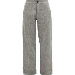 Asceno - Antibes High-rise Linen Trousers - Womens - Grey found on MODAPINS from Matches Global for USD $245.00