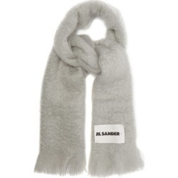 Jil Sander - Fringed Mohair-blend Scarf - Womens - Grey found on MODAPINS from Matches Global for USD $380.00
