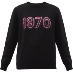 Bella Freud - 1970 Merino Wool-blend Sweater - Womens - Black Pink found on MODAPINS from MATCHESFASHION.COM - AU for USD $332.02