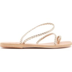 Ancient Greek Sandals - Eleftheria Braided Leather Sandals - Womens - Gold found on MODAPINS from Matches Global for USD $255.00