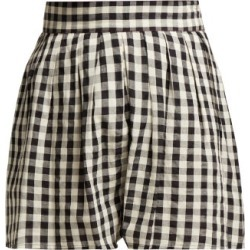 Anaak - Annex Pleated Cotton Shorts - Womens - White Black found on MODAPINS from Matches UK for USD $257.80