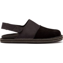 Jacquemus - Nubuck And Leather Slingback Shoes - Mens - Black found on Bargain Bro UK from Matches UK