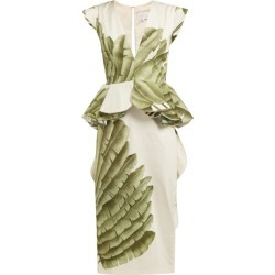 Johanna Ortiz - Natural Listic Palm Leaf-print Cotton Dress - Womens - Ivory Multi found on Bargain Bro India from Matches Global for $593.00