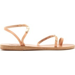 Ancient Greek Sandals - Apli Shell Embellished Leather Sandals - Womens - Tan Multi