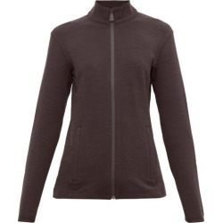 Aztech Mountain - Bonnie's Rubberised-logo Zip-through Sweater - Womens - Black found on MODAPINS from MATCHESFASHION.COM - AU for USD $116.65