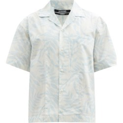 Jacquemus - Jean Cuban-collar Leaf-print Cotton Shirt - Mens - Blue found on Bargain Bro UK from Matches UK