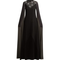 Givenchy - Crystal-embellished Wool And Silk-chiffon Gown - Womens - Black found on Bargain Bro Philippines from MATCHESFASHION.COM - AU for $2831.59