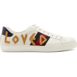 Gucci - Baskets en cuir brodées Ace found on Bargain Bro from matchesfashion.com fr for USD $568.10