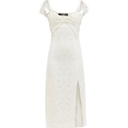 Jacquemus - Tovallo Broderie-anglaise Linen-blend Midi Dress - Womens - Ivory found on Bargain Bro UK from Matches UK