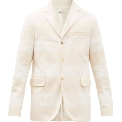 Marni - Single-breasted Stripe-print Cotton-twill Jacket - Mens - Beige White found on Bargain Bro UK from Matches UK