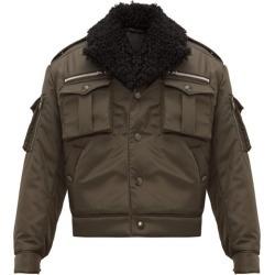 Prada - Shearling-collar Nylon Flight Jacket - Mens - Khaki found on Bargain Bro India from MATCHESFASHION.COM - AU for $3119.04