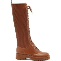 Gianvito Rossi - Martis Lace-up Leather Knee-high Boots - Womens - Brown found on Bargain Bro UK from Matches UK