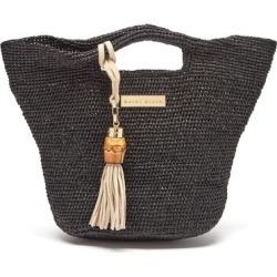 Heidi Klein - Grace Bay Super Mini Raffia Bucket Bag - Womens - Black