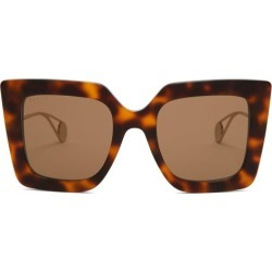 Gucci - Oversized Square Acetate Sunglasses - Womens - Tortoiseshell