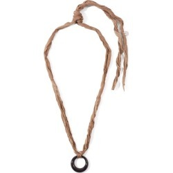 Jil Sander - Knotted Silk-ribbon Pendant Necklace - Mens - Black found on Bargain Bro UK from Matches UK