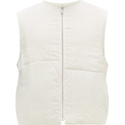 Jil Sander - Panelled Pinstriped Satin Gilet - Mens - White found on Bargain Bro India from MATCHESFASHION.COM - AU for $798.23
