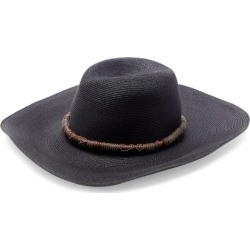 Brunello Cucinelli - Leather-trim Straw Hat - Womens - Black found on MODAPINS from Matches Global for USD $1495.00