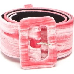 Attico - Velvet Buckle Belt - Womens - Pink found on MODAPINS from MATCHESFASHION.COM - AU for USD $425.30