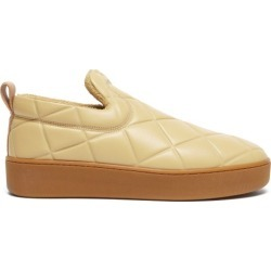 Bottega Veneta - Quilt Leather Slip-on Trainers - Mens - Brown found on Bargain Bro UK from Matches UK