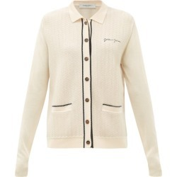 Golden Goose - Amelia Logo-embroidered Piped Cardigan - Womens - Cream found on Bargain Bro UK from Matches UK