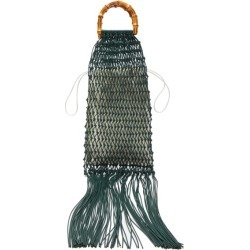 Jil Sander - Bamboo-handle Macramé String Bag - Womens - Green Multi found on Bargain Bro UK from Matches UK