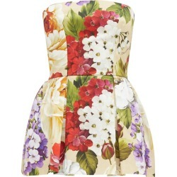 Dolce & Gabbana - Peony And Violet-print Cotton Skort Playsuit - Womens - Beige Print found on Bargain Bro UK from Matches UK