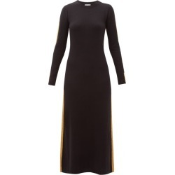Bella Freud - Britt Gold-striped Cashmere Maxi Dress - Womens - Black found on MODAPINS from Matches Global for USD $306.00