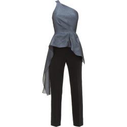 Roland Mouret - Jara Asymmetric Lamé-cloqué Jumpsuit - Womens - Blue Multi found on Bargain Bro Philippines from MATCHESFASHION.COM - AU for $2096.23
