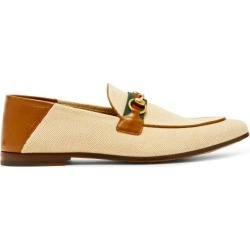 Gucci - Brixton Collapsible-heel Canvas Loafers - Mens - Beige found on Bargain Bro UK from Matches UK