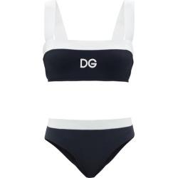 Dolce & Gabbana - Logo-print Square-neck Bikini - Womens - Black found on Bargain Bro UK from Matches UK