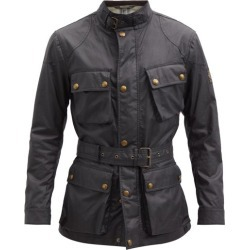 Belstaff - Trialmaster Belted Waxed-cotton Jacket - Mens - Black found on MODAPINS from Matches Global for USD $595.00