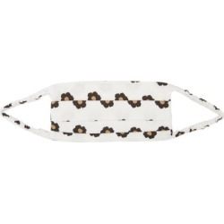 Borgo De Nor - Floral-print Cotton Face Covering - Womens - White Black found on MODAPINS from Matches Global for USD $48.00