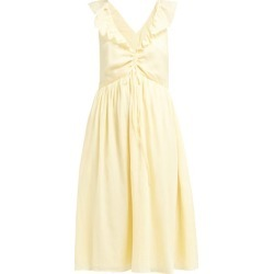 Loup Charmant - Naxo Ruffle-trim Cotton Dress - Womens - Yellow found on Bargain Bro Philippines from Matches Global for $122.00