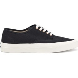 Maison Kitsuné - Heel-logo Cotton-canvas Trainers - Mens - Black found on Bargain Bro from Matches UK for £131