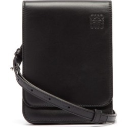 Loewe - Gusset Flat Leather Cross-body Bag - Mens - Black found on Bargain Bro UK from Matches UK