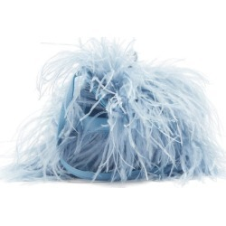 Marques'almeida - Feather-trimmed Leather Bag - Womens - Light Blue found on MODAPINS from Matches UK for USD $419.56