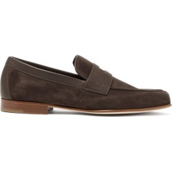 John Lobb - Hendra Suede Penny Loafers - Mens - Dark Brown found on MODAPINS from Matches Global for USD $940.00