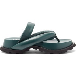 Jil Sander - Padded Nappa-leather Flatform Slides - Womens - Green found on Bargain Bro UK from Matches UK