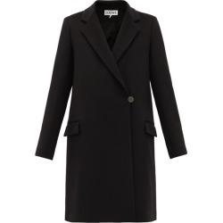 Loewe - Asymmetric-front Felted Wool-blend Coat - Womens - Black