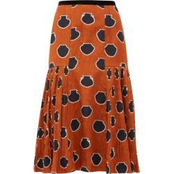 Johanna Ortiz - Vase-print Floral-jacquard Skirt - Womens - Brown Multi found on MODAPINS from MATCHESFASHION.COM - AU for USD $342.98